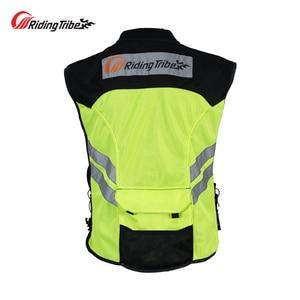Image 2 - Motorcycle Jacket Reflective Vest High Visibility Night Shiny Warning Safety Coat for Traffic Work Cycling Team Uniform JK 22