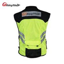 Motorcycle Jacket Reflective Vest Waistcoat Night Visible Safety Clothing Motocross Off Road Moto Team Uniform clothing JK 22