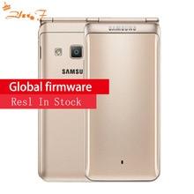 Новый оригинальный samsung Galaxy папка 2 G1650 Dual SIM 16 GB Встроенная память 2 Гб Оперативная память 4 ядра 8.0MP 3,8 «смартфон-раскладушка 4G LTE мобильный телефон