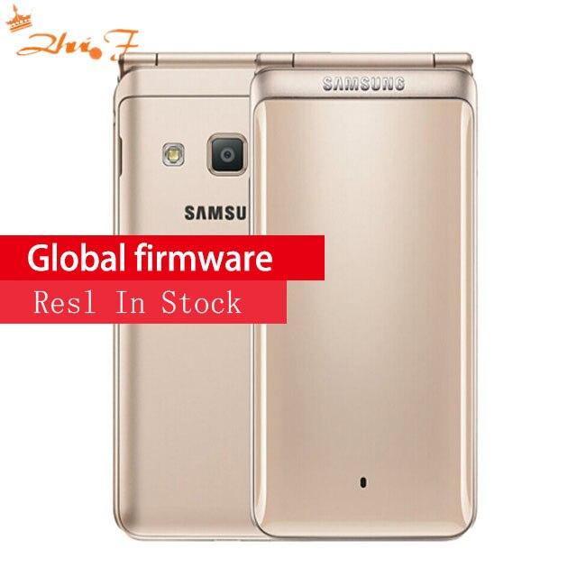 Nouvelle D'origine Samsung Galaxy Dossier 2 G1650 Double SIM 16 GB ROM 2 GB RAM Quad Core 8.0MP 3.8 flip SmartPhone 4G LTE Mobile Téléphone