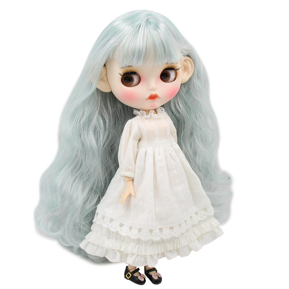 ICY factory blyth doll 1 6 bjd white skin joint body mix mint hair new matte