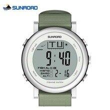 SUNROAD Reloj Pesca Altímetro Barómetro Termómetro Pronóstico del tiempo Reloj Escalada Al Aire Libre Impermeable Mujer de Los Hombres Reloj Deportivo