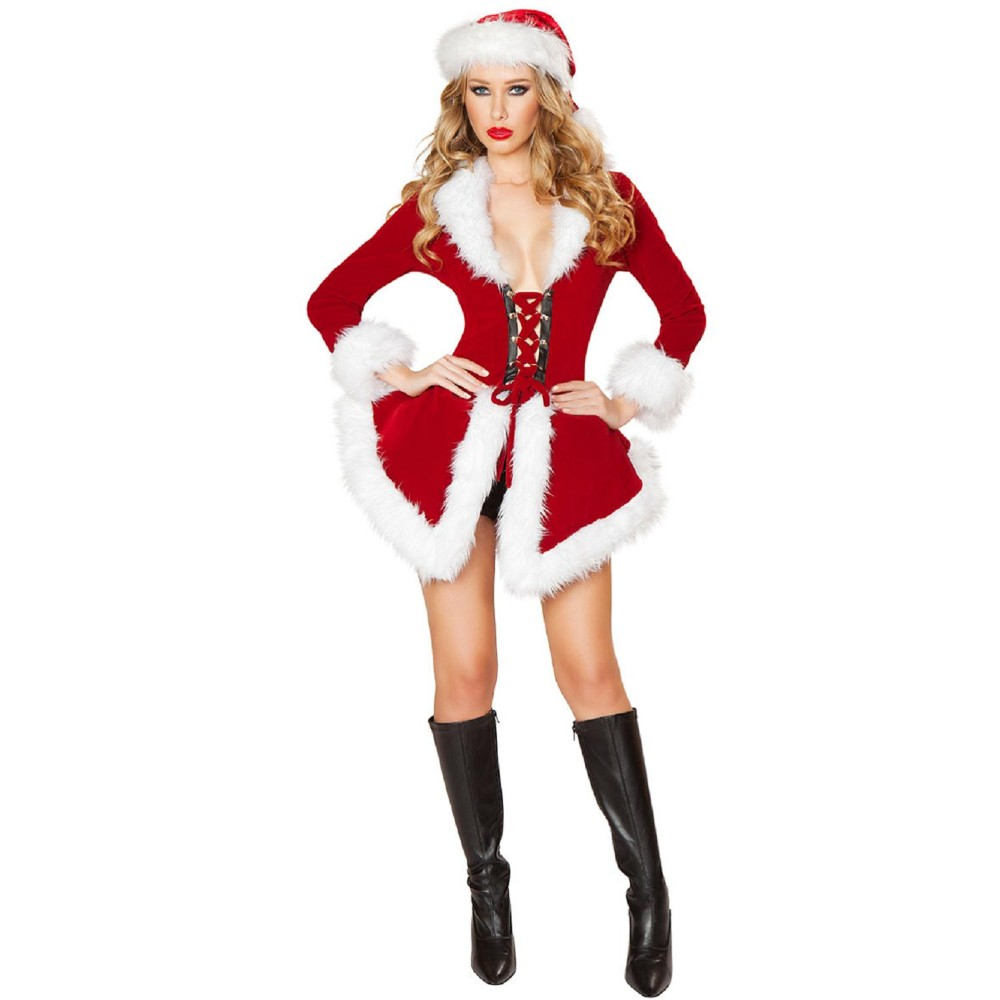 Extravagant Christmas Costumes For women Adult Santa Claus Cosplay for Christmas Holiday party father christmas costumes
