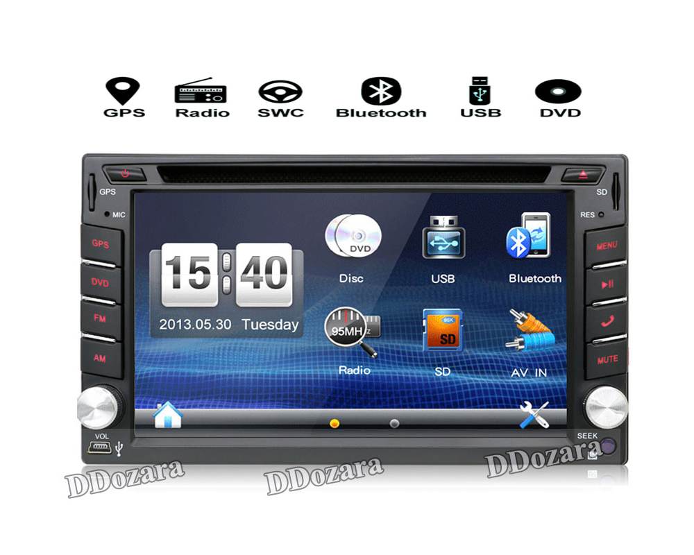 tape recorder radio 6.2inch 2din Universal Car Radio In Dash Stereo USD SD Bluetooth ...