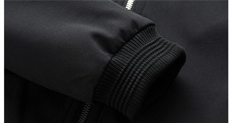 Men's Bomber Zipper Casual Streetwear Hip Hop Slim Fit Pilot Coat Men 37