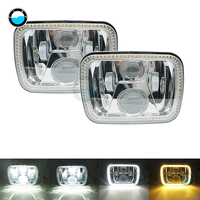 2 pcs Square 7x6 5X7 inch LED Headlights with High Low Beam H6054 6054 Led Headlight For Jeep Wrangler YJ Cherokee GMC.