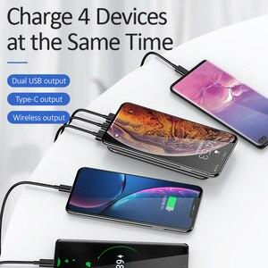 Image 5 - Chargeur sans fil USAMS 5V 2A Qi 10000mAh batterie dalimentation 18W QC 3.0 PD chargeur rapide batterie dalimentation avec ventouse pour iPhone Samsung