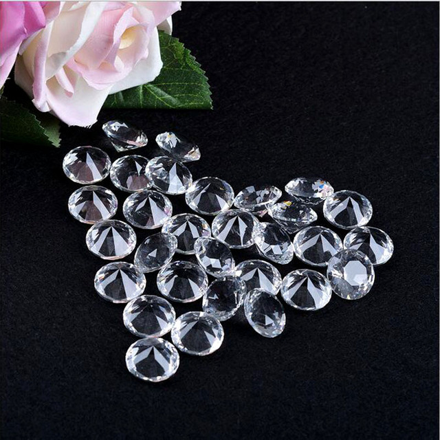 Decoración de boda 100 piezas 6mm cristal diamante joya fiesta de cumpleaños decoración del hogar regalos de vacaciones Fengshui manualidades pisapapeles DIY