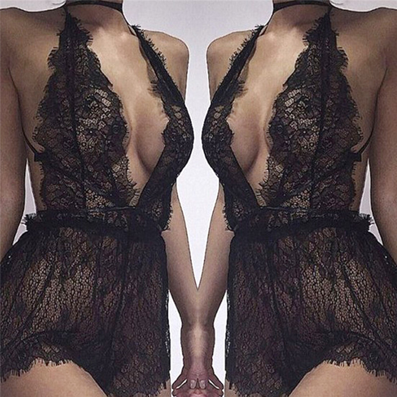 Sexy Lingerie Women Lace Teddy Babydoll Dress Erotic Lingerie Cosplay Sexy Costumes