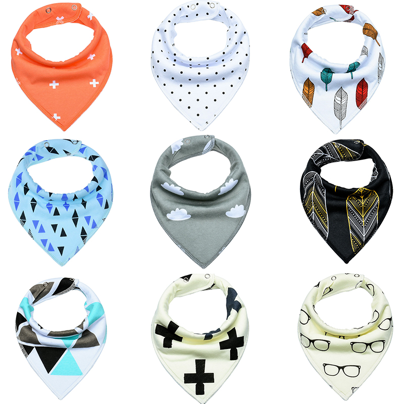 Newborn Fashion 100% Organic Cotton Boys Girls Burp Cloths Burp Bandana Race Bandana Drool Bibs Toddler Scarf Infant bandana husky bandana