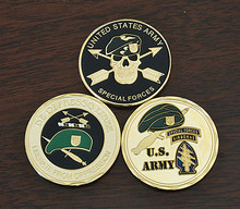 Mix 3pcs/lot, United States Green Berets  Special Forces Coins Army Challenge Coin Commemorative coins, free shipping special forces sniper challenge coin double sided embossed ancient bronze commemorative coin military coins collectibles
