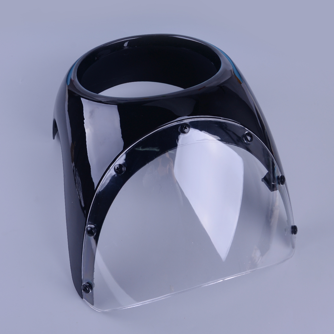 DWCX 17cm Motorcycle Cafe Racer Headlight Fairing Screen Retro Drag Racing Light Fairing Windshield