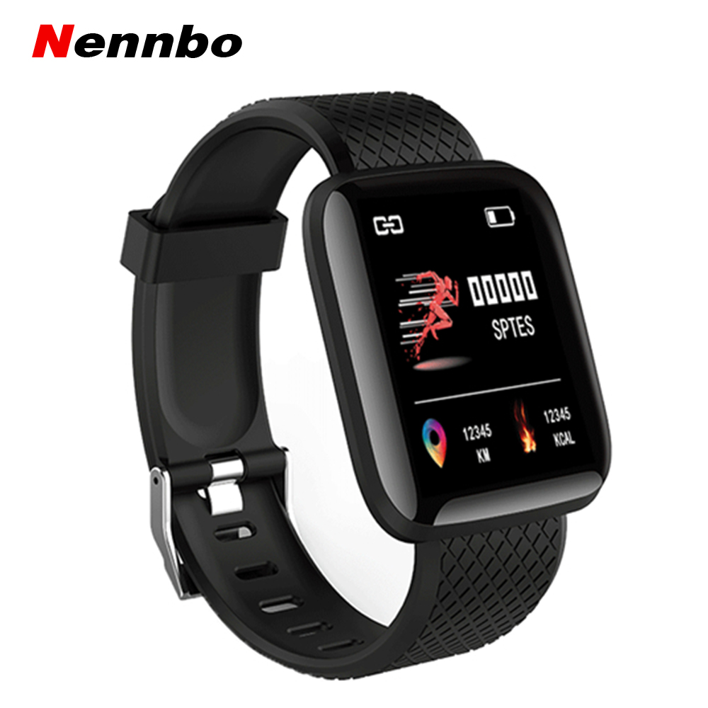 Nennbo 116 PLUS Smart Bracelet Heart Rate Blood Pressure Monitor Wristbands Outdoor Sports Fitness Band Waterproof Smart Watch xanes a6s