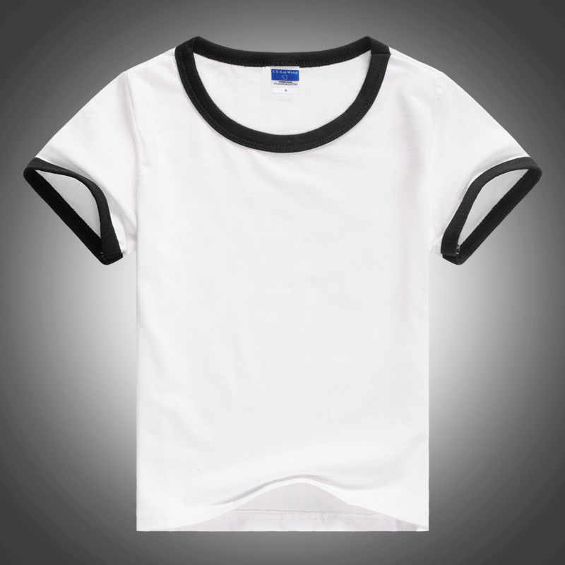 4639b5568fe Child Unisex Plain Basic T Shirts Girls And Boys Black And White 100%  Cotton Tops