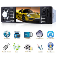 AZGIANT 4.1 Inch ISO 1 Din MP5 Player Car Radio Audio Stereo USB AUX FM Radio Station Bluetooth with Remote Control
