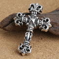 Wholesale S925 silver fashion retro Silver Cross Pendant large personality anchor favorite male models
