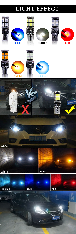 RXZ t10 w5w canbus car interior light 194 501 led 26 4014 SMD Instrument Lights bulb lamp dome light no error 12V 6000K