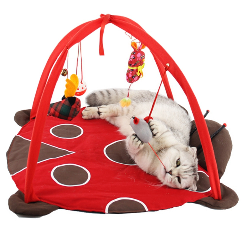 Beds Mats Traing Tortorise Pet Bed Toys Mobile Activity Playing Cat Pet Dog Puppy Houses Pad Blanket House Cat Tent Toy For Pets #2