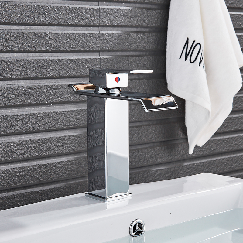 Image 5 - Bathroom sink Faucet Deck Mounted Basin Mixer Faucets Hot Cold Water Faucet Single Handle Washing Vessel Sink Taps Torneira-in Basin Faucets from Home Improvement