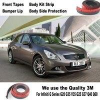 Auto Bumper Lippen Voor Infiniti G Serie G20 G35 V35 G25 G37 Q40 Q60/Body Kit Strip/Front Tapes Body Chassis Kant bescherming