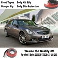 Car Bumper Lips For Infiniti G Series G20 G35 V35 G25 G37 Q40 Q60 / Body Kit Strip / Front Tapes Body Chassis Side Protection