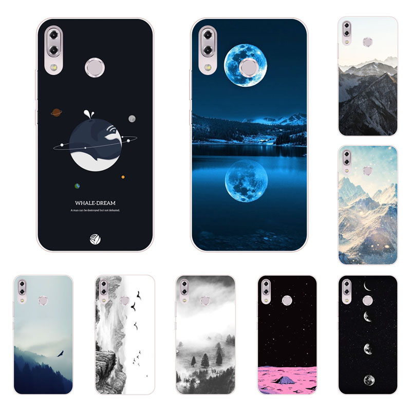 for asus ZenFone Max M2 ZB633KL case,Silicon view Space Painting Soft TPU Back Cover for asus ZenFone Max M2 ZB633KL bags