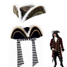 Caliente cosplay fiesta Halloween mascarada pirata capitán Jack Sparrow  pirata sombrero boutique pluma ec8119edcd7