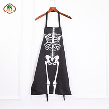 MSJO Halloween Apron Pumkin Bloody Skull Butcher Patterns Printing Party Cooking Kitchen Horror Dress Up Cute Adults