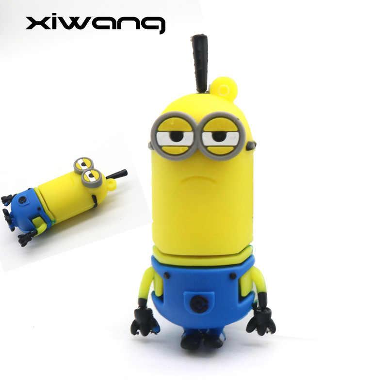 Engraçado Minions Usb Flash Drive GB 16 8GB GB 64 32GB 128GB de Memória Pen Drive Vara Dos Desenhos Animados pendrive USB 2.0 Melhor Presente