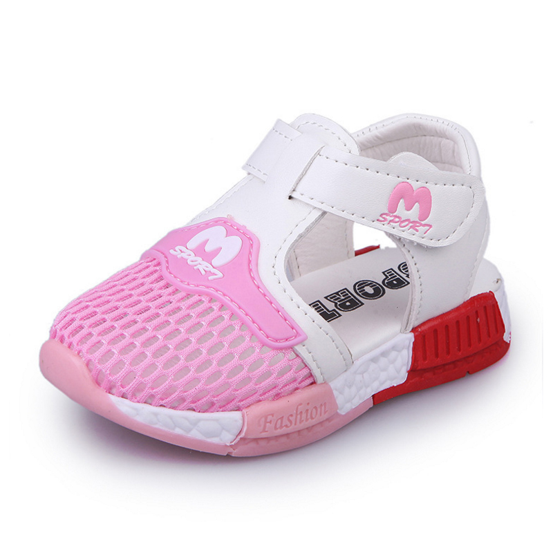 2018 New Fashion Kids Sport Sandals Cute Baby Toddler Shoes Children Soft Mesh Sandals Girls Boys Antislip Running Sandals