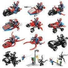 Legoings 12pcs/lot Marvel Venom Carnage The Avengers Spiderman Building Blocks Toys For Children