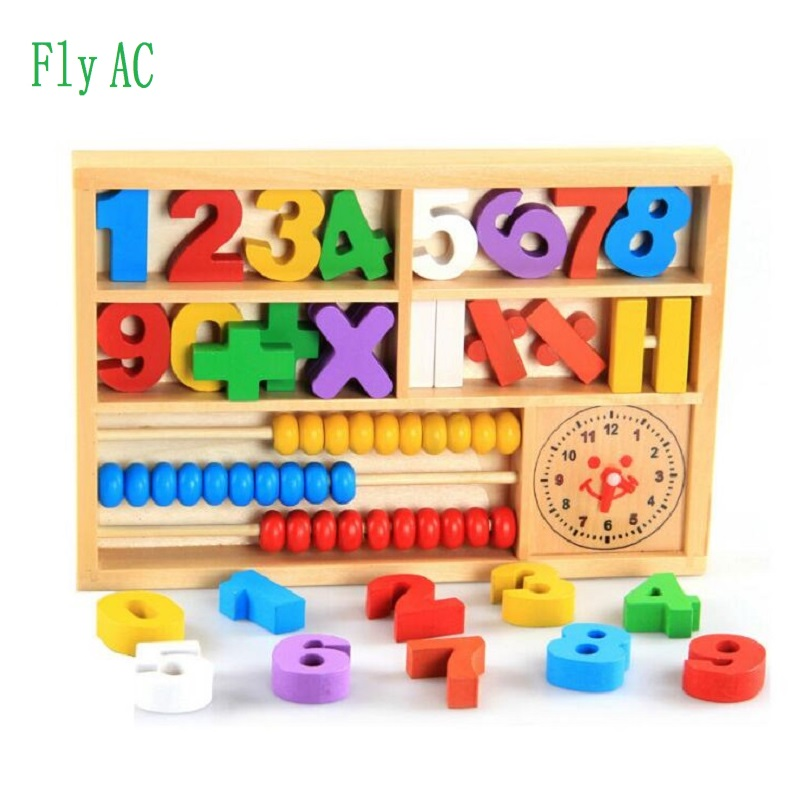 Montessori font b Educational b font Wooden Toys For font b Digital b font learning box