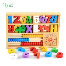 Buy online Montessori Educational Wooden Toys For Digital learning box toys for children Development Practice and Senses birthday gift