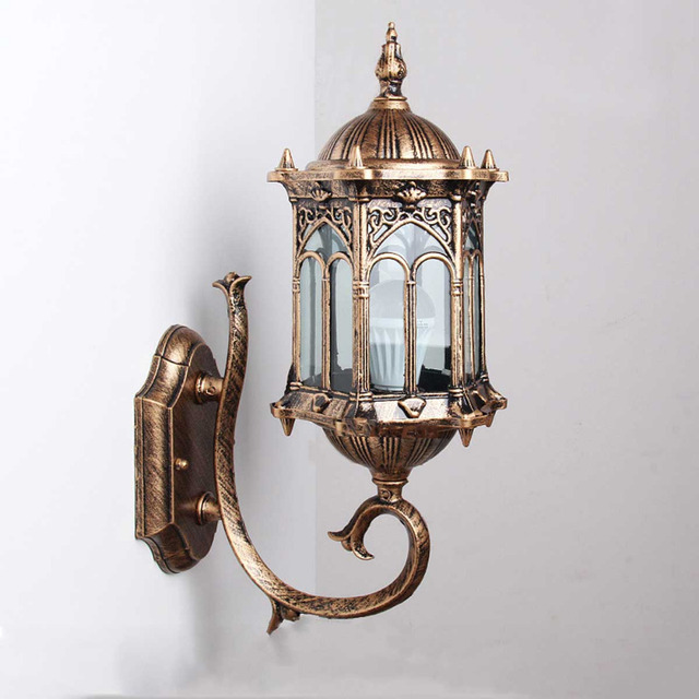 1pc Wall Sconce Top Grade Retro Exterior Lamp Antique Bronze Homestia Brand  Exterior Wall Lantern Aluminum Outdoor Wall Lantern