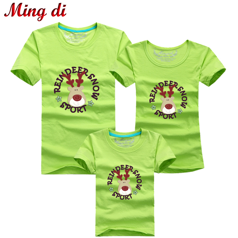 Ming di family look christmas deer t shirts mom us420 T shirts for dad