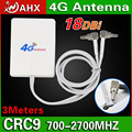 4G Antenna Huawei LTE Router Antenna high gain aerial double slider crc9 connector 3meter wire