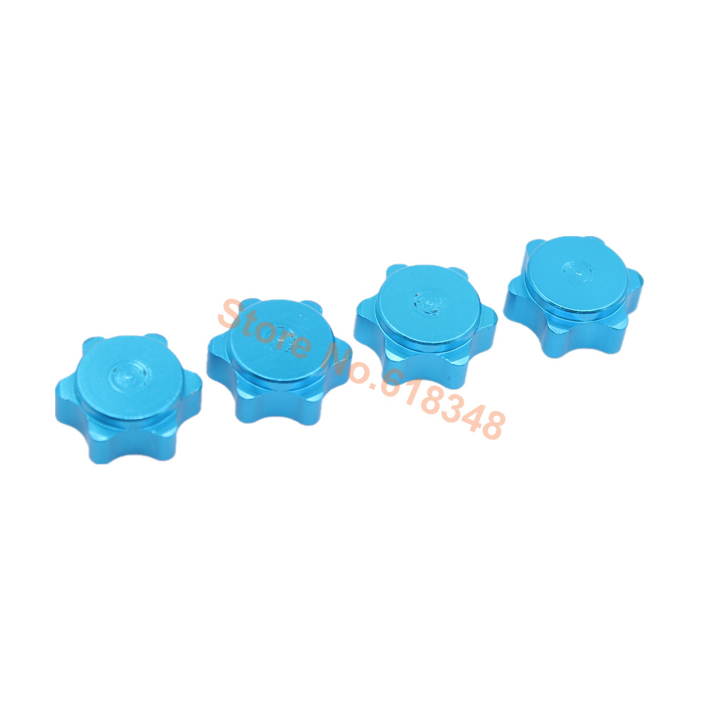 4pcs Set Aluminum Wheel Hub Cover HEX Nut 17mm Anti dust Dust Proof For RC 1