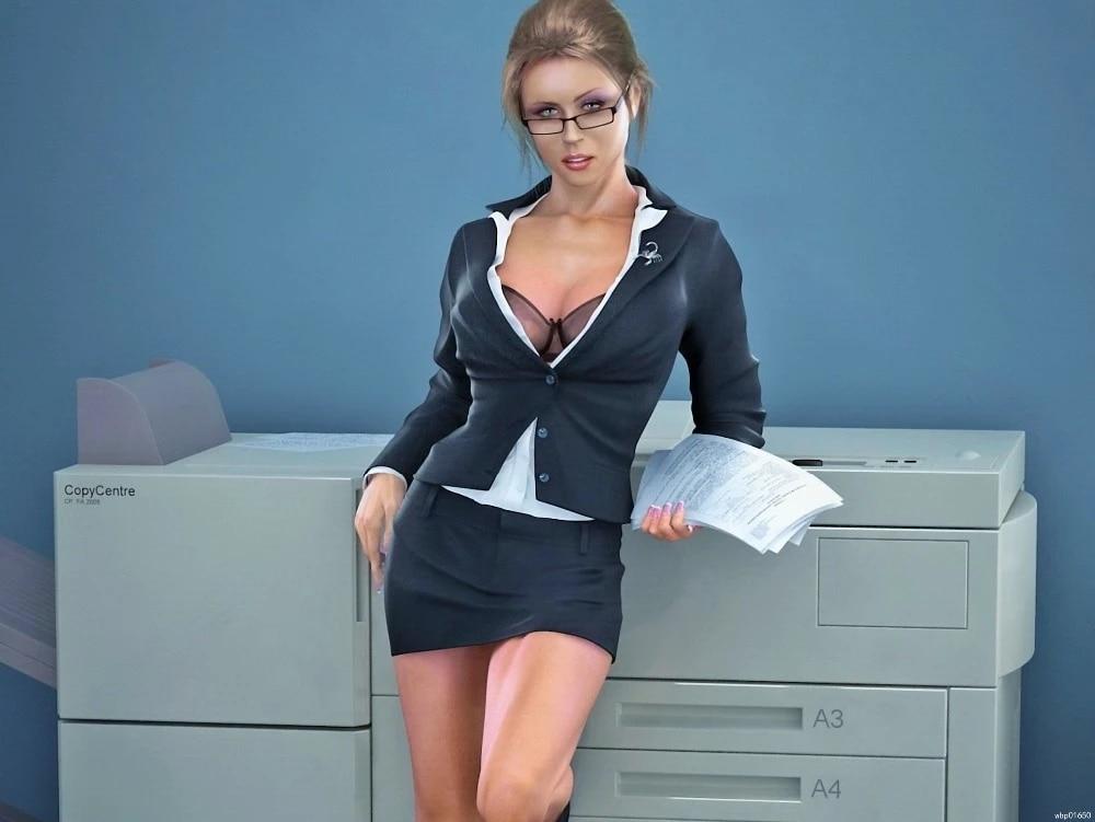 Geile babes op kantoor