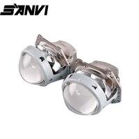 SANVI 3''D1 Bi светодиодный объектив проектора фар 35 W 5500 k для дальнего ближнего света LHD/RHD светодиодный Авто усовершенствованный комплект освеще