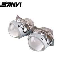 SANVI 3''D1 Bi LED Projector Lens Headlight 35W 5500k Hi Low Beam Auto LED Projector Headlight Car Motorcycle Headlight retrofit 7 led headlight for motorcycle projector led bulb projector h4 h13 motorcycle headlight