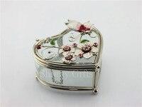 Nouvelle Forme de Coeur Boîte à Bijoux En Verre De Mariage Bijoux Boîte De Rangement En Verre Cadeau Boîte Papillon Bijou Boîte