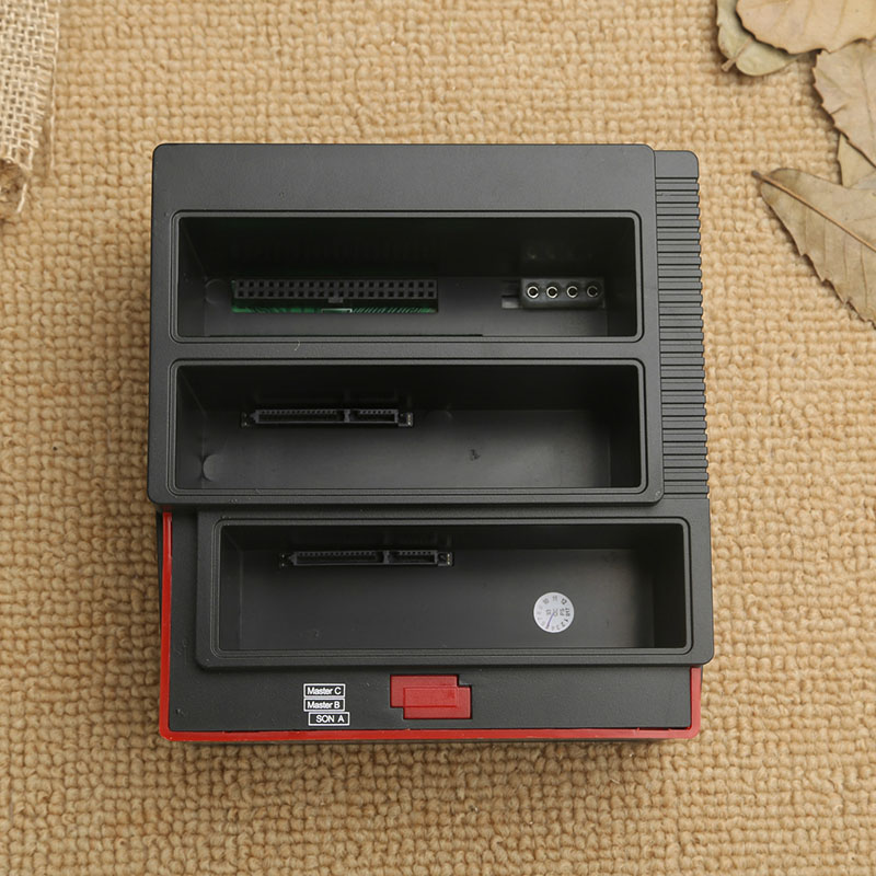3 emplacements support de disque dur 2 Port USB Base de disque dur multifonction pour lecteur de carte LCC77