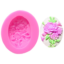 Bar Chrysanthemum Cake Accessories Silicone Mold Lace Fimo Soap Baking Tools For Cakes Flowers 3D A158229