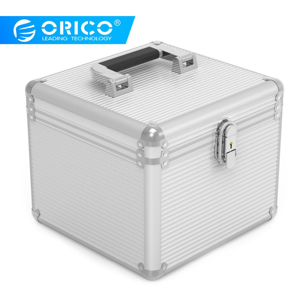 Orico Aluminum 5/10 3.5-inch Hard Drive Protection Security Box With Locking Storage 10pcs 3.5
