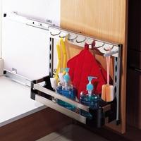 Кухня шкафы раковина стеллаж для хранения 250 шкаф корзина из нержавеющей стали