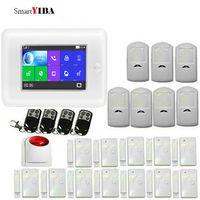 SmartYIBA 2,4G умный дом Охранная Аварийная сигнализация wifi gsm PIR детектор движения SMS сигнализация Многоязычная для опционально