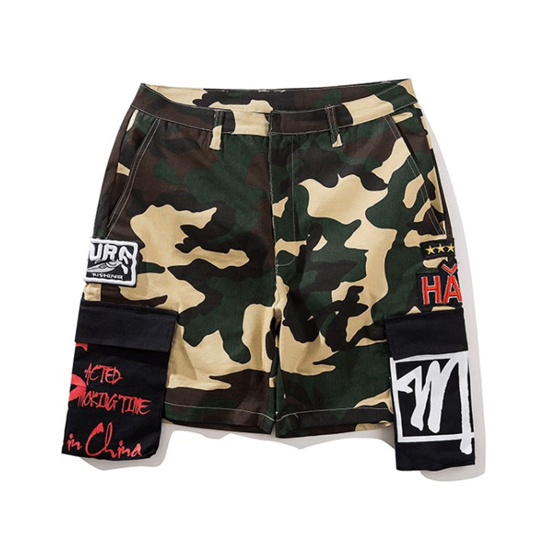 Men Military Shorts 2018 Cotton Casual Streetwear Camouflage Camo Sweatpants Hip Hop Summer Short Joggers Male Cargo Shorts