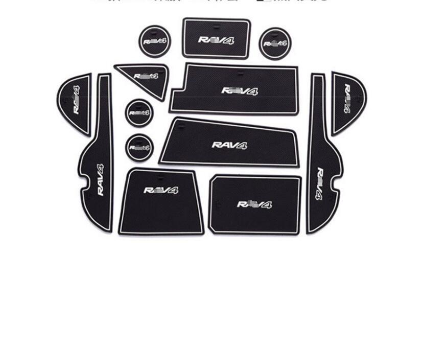 Для Toyota RAV4 Rav 4 Cancello слот di Pad antiscivolo coppa коврики Нескользящие коврик интерьер автомобиля стиль Accessori порта Scanalatura