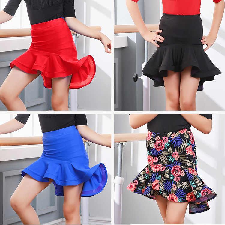 Бальные костюмы для девочек, сальса ча, одежды для конкурса танцов, юбка для латинских танцев для детей, Одежда для танцев, одежда с трусами