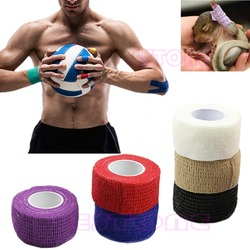 1PC High Quality 2.5cm*4.5M Sports Bandage Physio Muscle Strain Injury Support Sport Tape Kinesiology Muscles Care Strap Sticker